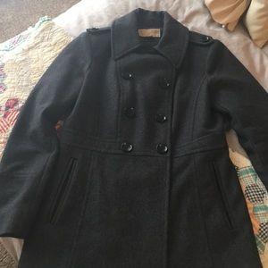 Michael Kors grey coat sz sm